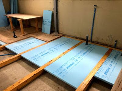 鉄筋コンクリート造りの内装リフォーム 床断熱材