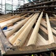 お寺の屋根の修復